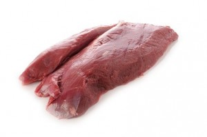 raw deer meat